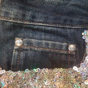 PINK Victoria's Secret Shorts - PINK sequin jean shorts victoria secret size 8